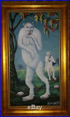 16 x 24 Vintage Original Haitian painting by renown master Joseph Jasmin Haiti