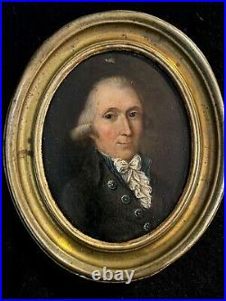 17 Century Antique Oil Painting on Wood Portrait Of Man created 1620-1650 signed
