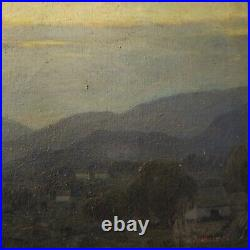 1923 Perry McNeely Los Angeles Landscape Nocturne California Impressionist Vtg