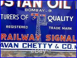 1930s RAILWAY SIGNAL PAINTS TIN CANS PICTO VINTAGE 72 OLD PORCELAIN ENAMEL SIGN