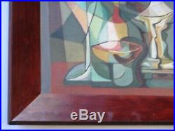 1950's Abstract Painting Vintage Cubist Cubism Expressionism MID Century Modern