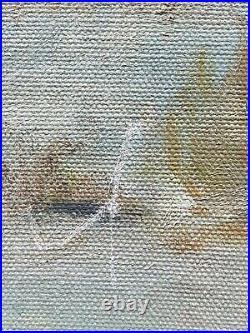 1961 Borrego Springs California Vintage Plein Air Desert Impressionism Painting