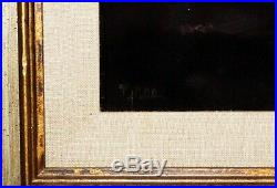 1970s Pacific Oil Painting on Velvet Seated Nude by Ralph Tyree (1921-1979)(Val)