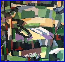 1970s Vintage Mid-Century Original ABSTRACT Painting EXPRESSIONIST Artist signed