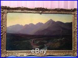 19TH CENTURY Scottish OIL ON CANVAS PAINTING BY PETER DUNBAR 1877