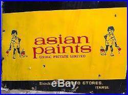 206 Old Asian Apcolite Plastic Paints/synthetic Enamel Vintage Porcelain Sign