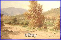 2 Vintage Framed Landscape Oil Paintings Signed Guillermo Grossmacht Chilean