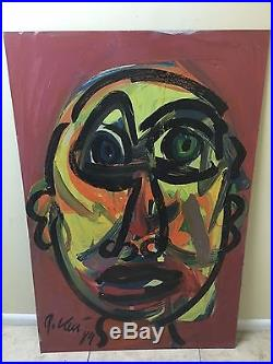 32x48 PETER KEIL Pablo Picasso VINTAGE & SIGNED PAINTING 1989