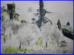 £90,000 Winston Churchill Original vintage watercolour painting signed Not print