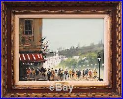 ANATOL BOUCHET Signed Vintage MidCentury 1960s Original Oil Painting Framed