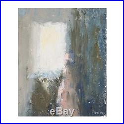 A small vintage abstract painting Signed Forsberg Framed Mid late 20th Century