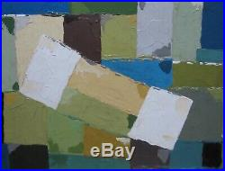 Abstract Oil Painting 1970's/1980's Vintage Retro Cornish Modern British