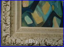 Abstract Oil Painting Cubist Composition Vintage Modern Diane Sunshine