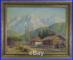 Alberto Lobos, LISTED, Chile Impressionist, vintage oil painting Fine Landscape