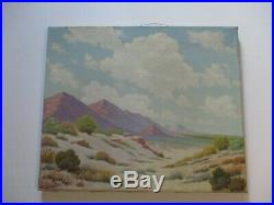 American Desert Oil Painting Listed Early California Landscape Antique Vintage