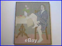 Ann Peacock Painting Portrait American Impressionist Modernism Expressionism Vtg