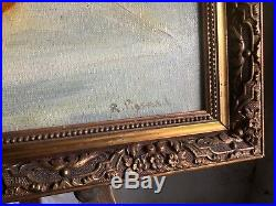 Antique French Framed Still Life Oil on Canvas Signed R Pissard Mars 1918