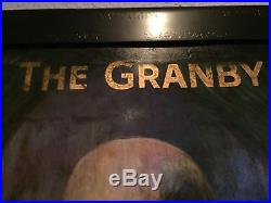Antique GUINNESS Beer Marquis Of Granby Large English Wooden Irish Vtg Pub Sign