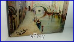 Antique Oil On Canvas Italian Scene Venice Grand Tour Signed Early 20th C
