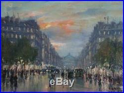 Antique Vintage Jean Salabet Painting Finest Oil French Impressionism Paris Art