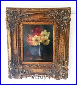 Antique/Vintage Oil on Canvas Still Life FLORAL Painting Signed