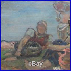 Antique Wpa Era Painting Modernism Impressionist Vintage Signed Lichtenberger