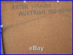 Anton Vorauer Vintage Portrait Painting Iconic Gorgeous Female Model MCM Nude