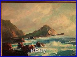 BENNETT BRADBURY Vintage CALIFORNIA PLEIN AIR OIL Painting on Canvas SIGNED
