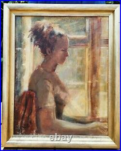 B Dunston RA British Slade School Portrait of a Lady Signed Antique Oil Painting