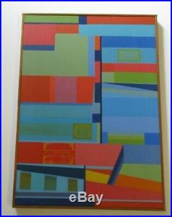 B Henry Painting Cubism Modernism Abstract Expressionism Colorful Vintage 1970