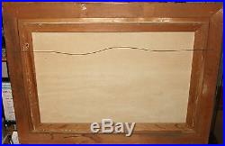 Bailey Original Vintage Oil On Canvas Seascape Huge Painting Dated 1971