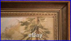 Beautiful Vintage Oil Painting of Deer in the Woods Signed W. Venter & Framed