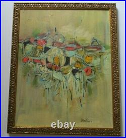 Bellomo MID Century Modern Painting Abstract Expressionism Modernism Vintage