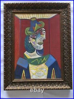 Buste de Femme original Oil on Canvas Signed Picasso with COA