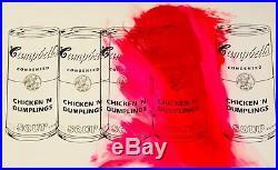 CAMPBELLS SOUP CAN VINTAGE PAINTING MR CLEVER ART mr brainwash banksy warhol 1/1