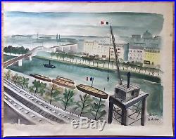 CHARLES DE MONTFORT Original Signed Vintage Mid Century Paris Painting LISTED