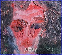 Chaim Soutine (1893-1943) VINTAGE Original 1920's Oil Painting Portrait Signed
