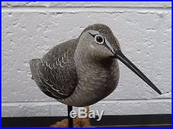 Classic Hand Painted & Carved Shore Bird Decoy with Original Paint Signed