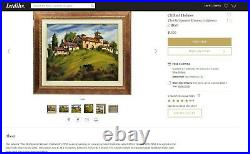 Clifford Holmes (1876-1963) Original Oil Painting, Adobe's Abiquiu, New Mexico