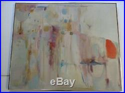 Connors Painting Abstract Quality Rare Modernism Vintage Expressionism Large