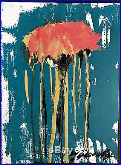 Cy Twombly Original Oil Mixed Media Rare Hand Signed Vintage