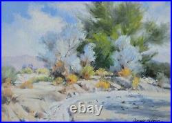 Darwin Duncan Early California Vintage Desert Landscape Plein Air Oil Painting