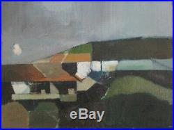 David B Wade Painting Uk Modernist Abstract Expressionism Landscape Vintage 1970