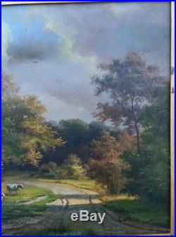 Discounted! Hudson River School Style Landscape Oil On Canvas Signed Cole