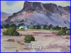 Doc Weaver Painting Listed New Mexico Artist Desert Mountain Vintage Regionalism