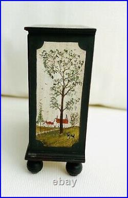Dresser & Chest Hand Painted Miniature Dollhouse Signed Artist James Hastrich