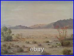 Early Desert Landscape California Desert Scene Signed HAG 60