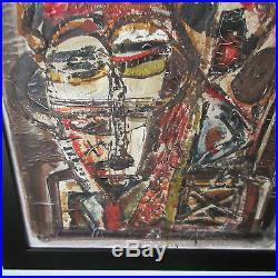 Ebrin Adingra Painting Abstract Modernism Expressionism Cubism Vintage Paris