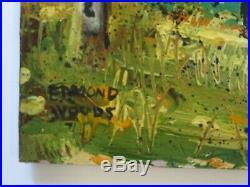 Edmond Woods Painting 1950's Early Vintage California Utah Impressionist 22 Inch