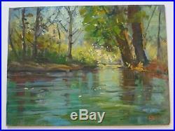 Edmond Woods Painting 1950's Early Vintage California Utah Impressionist 24 Inch